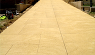 Liquid Limestone Pathways Can Be Patterned To Suit